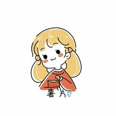 Simple Anime, Cute Sketches, Daily Drawing, Cute Chibi, Stick Figures, Cute Images, Minimalist Art, Easy Drawings, Cute Cartoon