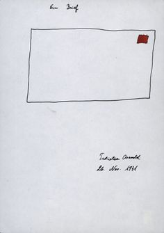 Ein brief Tschirtner, Oswald Ink and watercolor on paper 21 x 14,8 cm