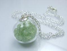 prehnite bubble necklace