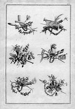 1770 - Ornament Garten Blumen Floristik Kunst Gärtnerei Kupferstich