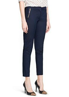 50 Pairs Of Fall Pants Under $50 - cropped slim trouser mango.com