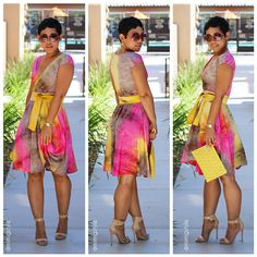 Mimi is the business! I love her style and YES...I will be pulling out my sewing machine!  DIY Tie Dye Dress   Pattern Info V1027