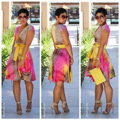 DIY Tie Dye Dress + Pattern Info V1027 |Mimi G Style: DIY Fashion Sewing