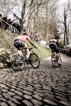 Cancellara and Boonen during the 2010 Tour of Flanders#
