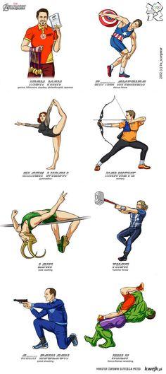 Avengers olympics -I love Iron Man.