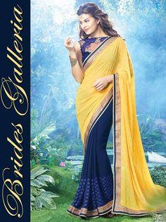 Jacqueline Fernandez Famous Saree Collection (7)