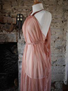 Pink chiffon maxi dress Game of Thrones Shae di OshunCreations