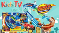 Gideon and Logan unbox and play with the BLAZE & The Monster Machines Flip Race Speedway play set.  Blaze is off to the races on the Velocityville speedway! Use the turbo launcher to clear the jump and zoom around the speedway. Blaze is fast but if he wants to win this race he's going to need more speed than ever before. Switch the track rails to send him into the transforming turbo flipper. With the simple flip of a lever Blaze transforms from a monster truck into a race car! Now he's got…