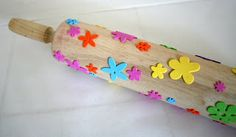 glue stuff on a rolling pin for textured wall paint designs..I would use lace