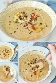 Gerösteter Blumenkohl Suppe - The Most Healthy Foods Sopa de couve-flor assada - A Cheat Sheet to Portuguese Food - Eater Roasted cauliflower soup Source by Easy Soup Recipes, Veggie Recipes, Casserole Recipes, Cooking Recipes, Healthy Recipes, Slow Cooking, Healthy Soup, Salad Recipes, Cauliflower Soup