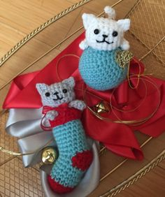 Mesmerizing Crochet an Amigurumi Rabbit Ideas. Lovely Crochet an Amigurumi Rabbit Ideas. Crochet Christmas Ornaments, Christmas Crochet Patterns, Christmas Cats, Christmas Stockings, Christmas Decorations, Crochet Baby Hats, Crochet Toys, Crochet Crafts, Free Crochet