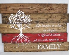 Wood Family Sign - Family Quote Sign - Reclaimed wood wall art - Pallet wood sign - Anniversary Gift - New Home Gift - Rustic Home Decor