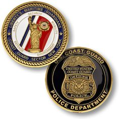 U s Coast Guard Sector New York Police Department USCG Challenge Coin | eBay