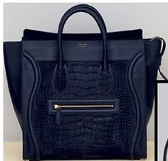Celine bag. Oooooh, Love the black on black leather contrast here. Wild!!