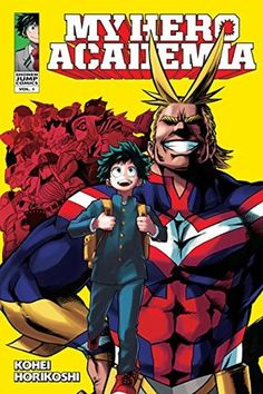 (My Hero Academia, Vol. 1) Despite being one of the few people with no powers, Izuku dreams of attending the prestigious U.A. High School for budding heroes. It looks like there's no hope, until  his bravery under fire convinces aging hero All-Might that he's worthy of inheriting his power.
