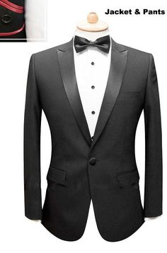 2013Top quality Notch Lapel Mens 100% wool  Two buttons Black Wedding Tuxedo Suits Free shipping on Suzhou Itilor Wedding Ltd. $159.00