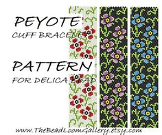 Peyote Cuff Bracelet Pattern Vol.5 - Poppy Bracelet - PDF File PATTERN