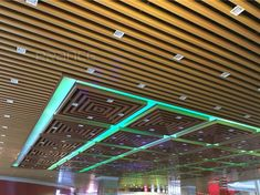 PRANCE- commercial building metal ceilings carefully select raw materials to create good quality ! Baffle Ceiling, Metal Ceiling, Building Materials, Raw Materials, Building Exterior, Big Project, Ceilings, Wood Grain, Mall