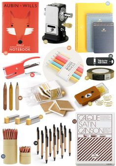 Cute school supplies. Like candy for the person that likes cute school supplies.