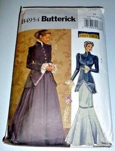 Early Century Costume Sewing Pattern Misses Size Butterick 4954 for sale online Titanic Costume, Titanic Dress, Skirt Patterns Sewing, Costume Patterns, Halloween Sewing, Halloween Costumes, Cosplay Costumes, Civil War Dress, Gibson Girl