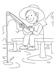 Free Coloring Page Child Sitting By River