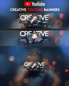 Creative YouTube Banner by youtubebanners Youtube Banner Design, Youtube Banner Template, Design Youtube, Youtube Banners, Banners Music, Banner Design Inspiration, Creative Banners, New Background Images, Gaming Banner