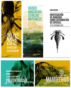 Museo Argentino de Ciencias Naturales 'Bernardino Rivadavia' in Buenos Aires/ visit the 'Agentine Museum of Natural Sciences' in B. A spectacular place to learn move obout the 'Argentinosaurus' Design Typo, Graphisches Design, Design Poster, Identity Design, Flyer Design, Typography Design, Layout Design, Print Design, Logo Design