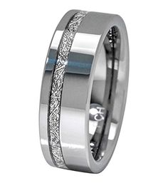 Men Wedding Rings Meteorite Ring Tungsten Carbide Comfort Fit Mens Wedding Band Thin Strip Man made meteorite Heavy Tungsten Carbide Durable and Strong Comfort Fit Smooth Insides Comes with Ring Box Masculine Design Ring Wedding Ring For Him, Cool Wedding Rings, Wedding Men, Bridal Rings, Diamond Wedding Rings, Diamond Engagement Rings, Hunting Wedding, Engagement Rings For Men, Solitaire Engagement
