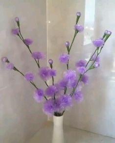 Diy Resin Crafts, Diy Crafts Jewelry, Diy Crafts For Gifts, Diy Home Crafts, Flower Making Crafts, Flower Crafts, Nylon Flowers, Plastic Flowers, Paper Flowers Craft