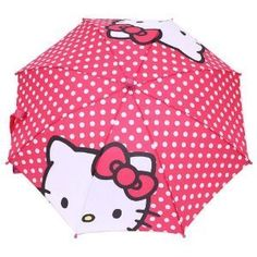 Sanrio Hello Kitty Poka Dot Pink Umbrella Polk-a-dots (Toy)   postteenageliving.com/amazon.php?p=B004UNGFNY
