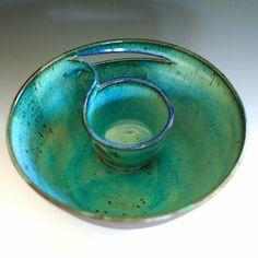 Chip and Dip, handmade ceramic dish, ceramics and pottery on Wanelo