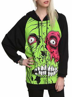 Iron Fist Zombie Chomper Girls Zip Hoodie | Hot Topic