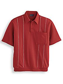 Men's Vintage Style Shirts John Blair Piped Polo $25.99 AT vintagedancer.com