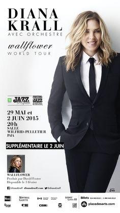 DIANA KRALL WALLFLOWER les 29 mai et 2 juin 2015. La chanteuse et pianiste…