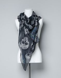 SKULL PRINT SCARF - Scarves - Accessories - Woman - ZARA