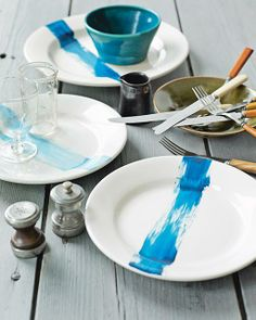 DIY Painted Chargers from my book 'Sweet Paul Eat & Make'