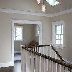 Gray Beige Paint, Cottage, entrance/foyer, Benjamin Moore Edgecomb Gray, Mueller Nicholls