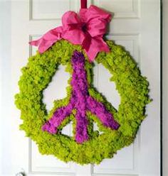 "Wreath for a ""Tween's"" room."