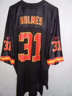 eaf447107c6 VTG Priest Holmes Kansas City Chiefs men's XXL 2XL black jersey Reebok # Reebok #KansasCityChiefs