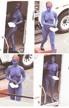Jennifer Lawrence on set of X Men Days of Future's Past