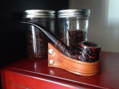 Curved Pipe holder by BigSciotaLeatherwork on Etsy https://www.etsy.com/listing/244331076/curved-pipe-holder Tobacco Pipe, pipe stand