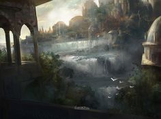 """Island"" by TitusLunter (Professional Concept Artist) on deviantART.  I believe this is Magic: the Gathering art."
