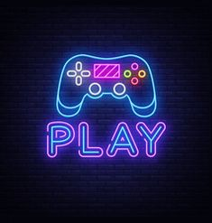Game Wallpaper Iphone, Purple Wallpaper Iphone, Neon Wallpaper, Dark Purple Aesthetic, Neon Aesthetic, Purple Games, Neon Symbol, Cool Neon Signs, Iphone Logo