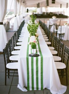 green + white striped runners | Bamber Photography #wedding
