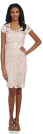 Mikael Aghal Cap Sleeve Illusion Lace Sheath Dress on shopstyle.com