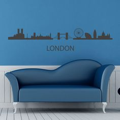 London Skyline Wall Sticker. London skyline boasts of some of the most recognizable architectural masterpieces all over the world like the gigantic London eye or the time enduring London Bridge or the typical Big Ben. Adorn your walls with the London skyline wall decals stickers and feel London calling to you. http://walliv.com/london-skyline-wall-sticker-wall-art-decal-3290