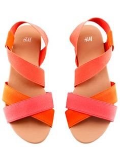 H strappy sandals