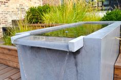 Concrete Water Feature | Chicago Roof Deck and Garden