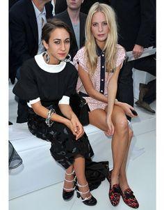 Louis Vuitton Front Row:   Delfina Delettrez and Poppy Delevigne