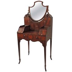 18th Century Mahogany Adam's Dressing Table. Ladies dressing table, UK, 1770-80